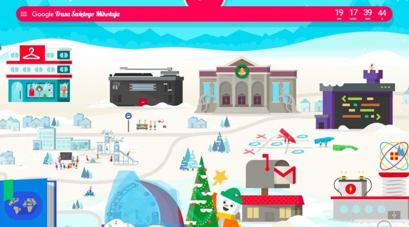 Trasa Świętego Mikołaja – Google dla najmłodszych