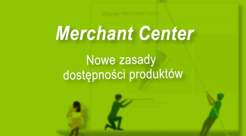 zasady dostępności produktów Merchant Center